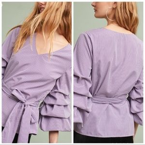 Anthropologie Ruffled & Tied Blouse
